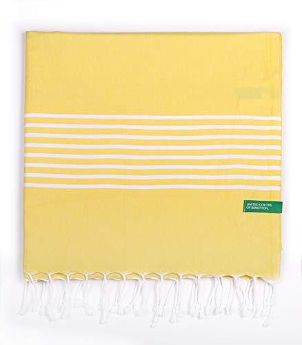 UNITED COLORS OF BENETTON. Hamman 80x165cm 170gsm 100% algodón Amarillo Casa Benetton, 80x165