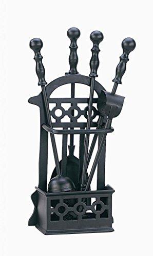 Decco 1145 - Utensilios para chimenea (altura: 41cm), color negro
