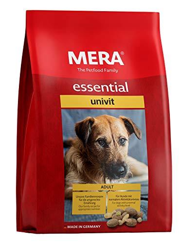 MERA essential Hundefutter > Univit < Für ausgewachsene Hunde mit normalem Aktivitätsniveau - Mix-Menü Trockenfutter mit Geflügel - Ohne Zucker & Konservierungsstoffe (12,5 kg)