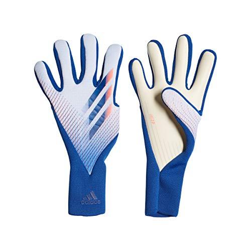 adidas X GL Pro Soccer Gloves, Unisex Adulto, Sky Tint/Team Royal Blue/Signal Coral, 11