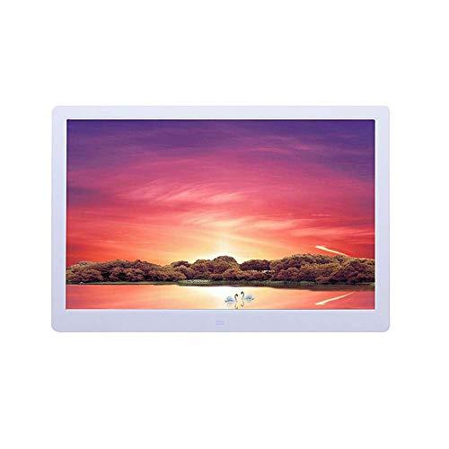 ZHTT Cornice per Foto Digitale a Parete Ultrasottile HD Widescreen da 15 Pollici Cornice per Foto Elettronica (16:10) ad Alta risoluzione 1280 נ800 Regali Decorati in Bianco e Nero