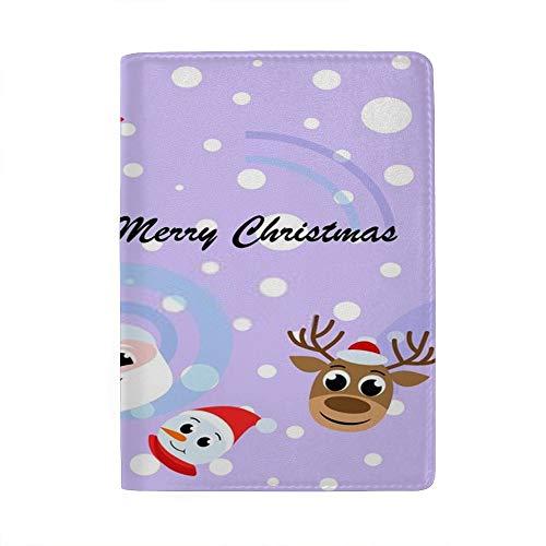 Chehong - Funda para Pasaporte de Navidad, diseño de Papá Noel, muñeco...