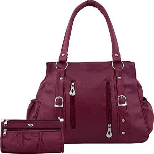 Women S Handbag In Premium Maroon Color Shoulder Bag And Wallet For Women