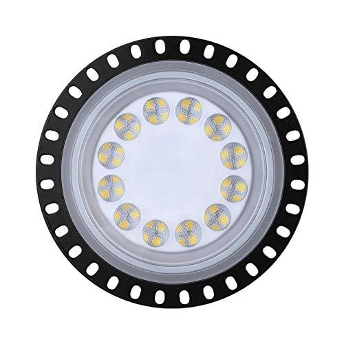Huaxingda High Bay Light, 5000LM 6000K-6500K Luz Diurna LED ultradelgada de Color Blanco Iluminación de almacén, IP65 Iluminación Comercial de bahía Impermeable para Garaje, Gimnasio, Taller, Taller