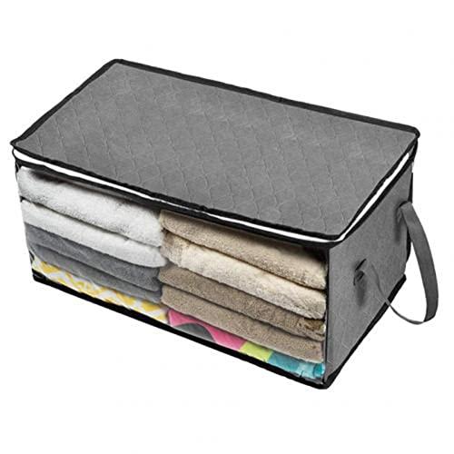 Almohada debajo de la cama Manta Bolsa de almacenamiento Caja de almacenamiento con cremallera Caja de almacenamiento Caja de almacenamiento plegable Armario Caja de almacenamiento(Color:grey,Size:A)