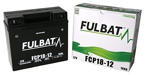 GreenCutter AG 0200182 Fulbat, Batteria per Trattorino al Gel, Sigillata, Pre-Attivata, 12V 18Ah