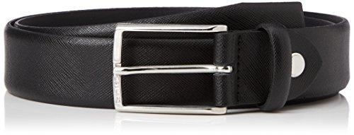 Calvin Klein Justin 2 Saffiano Adjustable Belt Ceinture, Noir (Black), 110 cm Homme