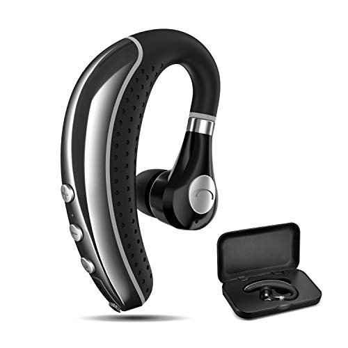 Bluetooth Headset COMEXION V5.0 Bluetooth Earpiece with Mic and Mute Key Wireless Noise Reduction Business Earphone for Driving/Meeting/Listening