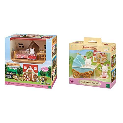 SYLVANIAN FAMILIES 5303 Casa De Campo + -5432 Mini Muñecas Y Accesorios, Multicolor (Epoch 5432)