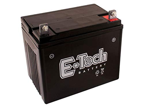 SECURA Batterie 12V 22Ah (+ Pol Rechts) kompatibel mit Etesia Hydro 100 MVEHH Rasentraktor