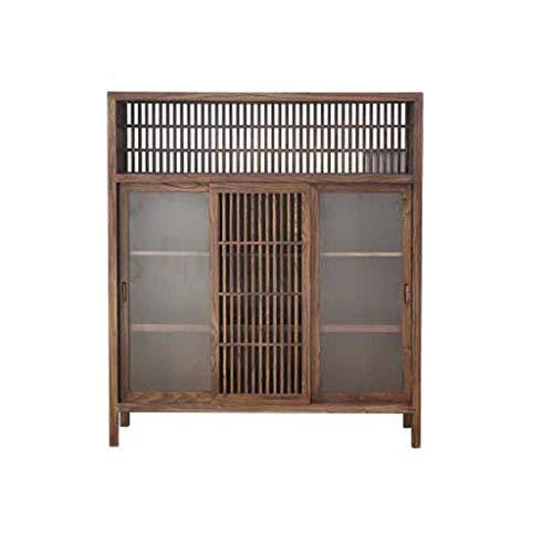 COUYY Aparador de Madera sólida Gabinete Pintura-Libre Antigua Sala de té ELM Gabinete de Almacenamiento Moderna Minimalista Zen