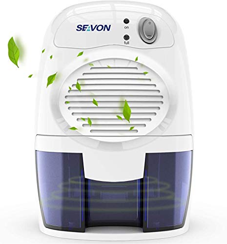 SEAVON Electric Dehumidifiers for Home, 2200 Cubic Feet (225 sq ft) Portable and Compact 16 oz Capacity Quiet Dehumidifiers for Basements, Bedroom, Bathroom, RV, Laundry Room, Closet, Auto Shut Off