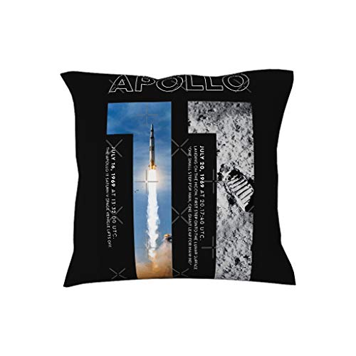 VVEDesign Lumbar Small Decorative Apollo 11 50th Anniversary Dabbing Astronaut Pattern Pillow Covers Cases Ultra Soft & Cool Cushion Case for Couch Sofa Best Gift for Children White 20 x 20