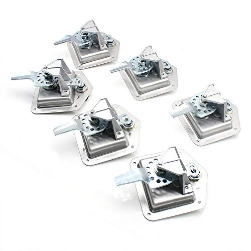 6Pcs Car Truck Trailer Camp T-Handle Lock Tool Latch Stainless Steel Keys Camper Truck Toolbox with Keys