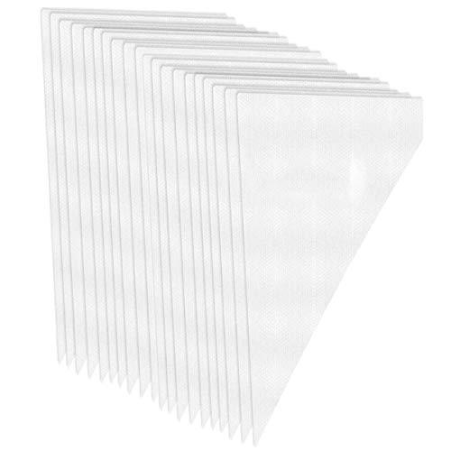 100 paquetes de bolsas de pastelería desechables para repostería de color crema, bolsas de tubo para galletas familiares, postres, 34,5 x 20 cm