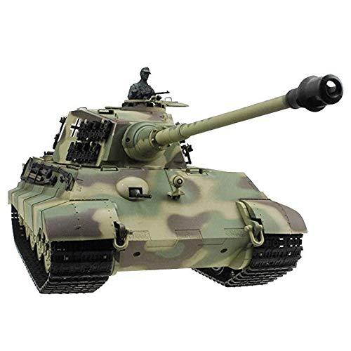 DJXWZX RC tanque de juguete 2.4Ghz anti-impacto de control remoto del tanque de batalla de humo y efectos de sonido de alta velocidad Panzer Tank Adultos Niños for niños de alta emulational 1/16 alemá
