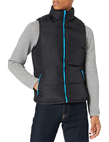Urban Classics Contrast Bubble Vest Manches, Multicolore (Blk/tur 00048), Medium Homme