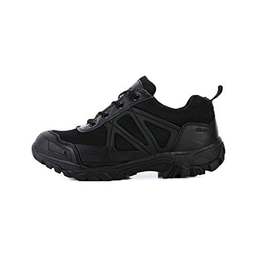 Suetar Zapatos de Senderismo de Cuero Militar Zapatillas de montañismo tácticas Impermeables y Transpirables Botas de Combate Antideslizantes y Resistentes al Desgaste