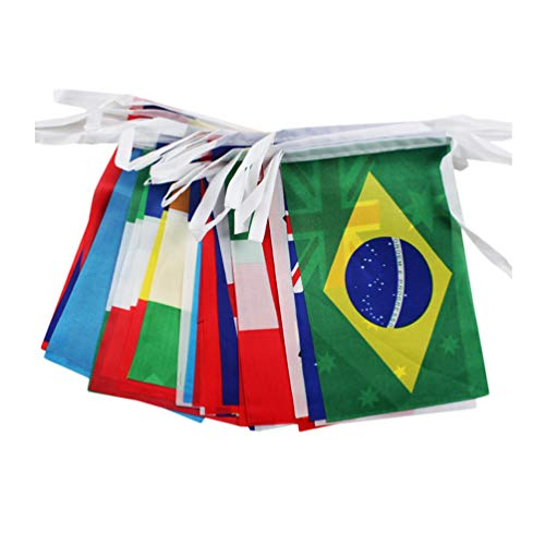 BESPORTBLE Welt Land String Flagge Internationale Ammer Banner für Party Klassenzimmer Dekoration Bars Sportveranstaltungen Schulfeste Feiern 50Pcs