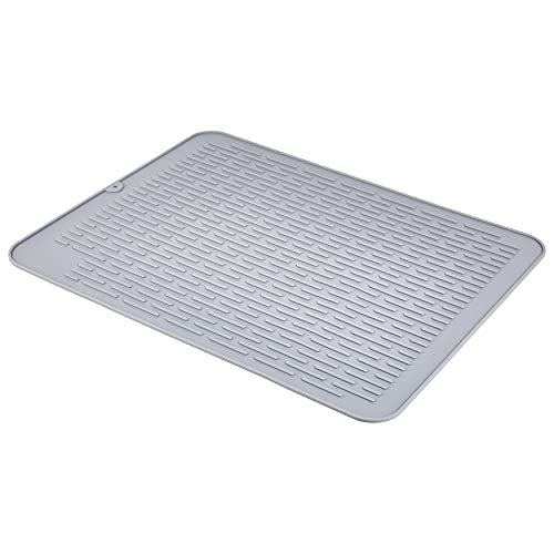 AmazonCommercial Silicone Dish, Sink Drying Mat, Reusable, Easy to Drain and Clean, 23 x 18-Inches