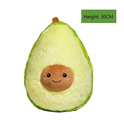 jingyuu Avocado Plüsch Kissen Kissen niedlichen Flauschigen Obst Plüschtier Geschenk Sofa Dekoration (30cm)