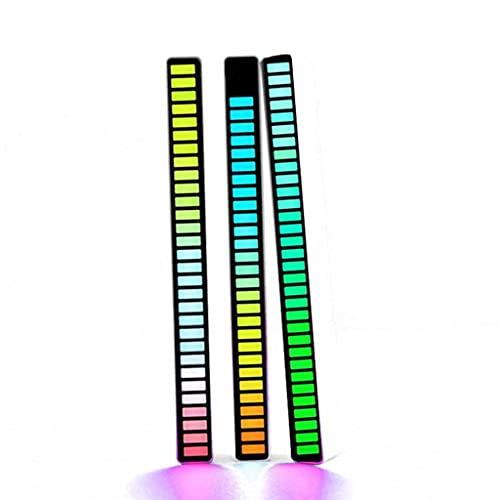 Analizador de Espectro de Audio LED, Luces de Nivel de Música RGB, Visualizador de Música, para Juegos, Fiesta, Coche (Color : Black, Size : 3pcs)