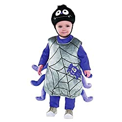 Plush Poly-Knit, Easy-To-Put-On Tunic-34 Spider Web Print On Front And Spider Legs Attached to The Side Comfortable Poly-Knit Hat With Big Spider Eyes On Front