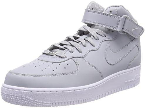 Nike Air Force 1 Mid '07 Le, Sneaker a Collo Alto Uomo, Grigio (Wolf ...