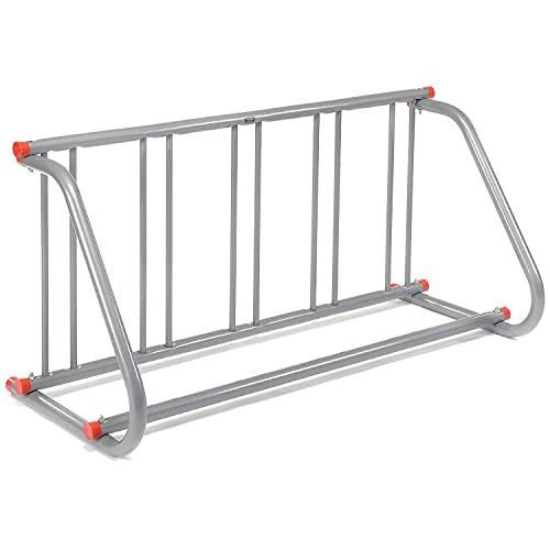 Global Industrial 61-5/8'L Grid Bike Rack, Single Sided, Steel, 5-Bike Capacity