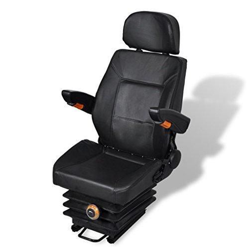 Anself Univeral Traktorsitz Treckersitz mit Armlehne und Rückenlehne