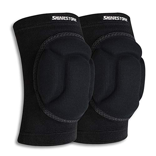 knee pads Shinestone Knee Pads Elbow Pads,Thick Sponge Knee Pads Elbow Pads High Elastic Anti-Slip Collision Avoidance Knee Elbow Sleeves for Basketball and More Sports. (1 Pair)