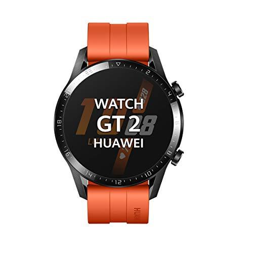 """Huawei Watch GT2 Sport - Smartwatch con Caja de 46 Mm (Hasta 2 Semanas de Batería, Pantalla Táctil Amoled de 1.39"""", GPS, 15 Modos Deportivos, Llamadas Bluetooth), naranja"""