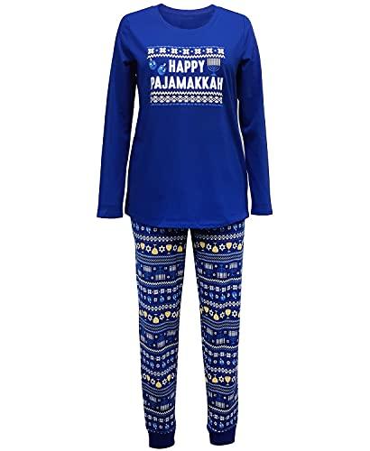 Family Pajamas Matching Women's Hanukkah Family Pajama Set Blue