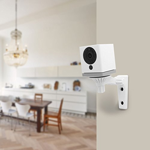 Wyze Cam Pan Wall Mount - ALLICAVER Security Mount Bracket for Wyze Cam Pan and Wyze Cam, Special Design for Both Wyze Labs 1080p HD Home Camera (White)