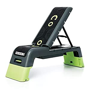 Escape Fitness Multi Purpose Fitness Station Deck for Step, Weight Training, Bootcamps, and More with Backrest and…