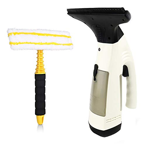 UPANV Limpiacristales Eléctrico Robot Limpiacristales Eléctrico Limpiador De Espejo Aspirador Limpiacristales para Uso Doméstico Electirc Cleaner,Blanco