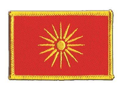 Flaggenfritze Flaggen Aufnäher Mazedonien alt 1992-1995 Fahne Patch + gratis Aufkleber