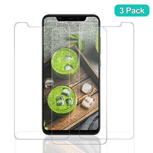 SNUNGPHIR® Cristal Templado Xiaomi Mi 8, [3-Pack] Protector Pantalla Xiaomi Mi 8 Cristal Templado [2.5d Borde Redondo] [9H Dureza] [Alta Definición] [Anti-Arañazos] [Anti-Huella Digital]