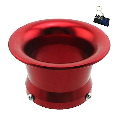 STONEDER Roter 50mm Carb Luftfilter-Trompeten-Geschwindigkeits-Stapel-Trichter für PWK24 PWK26 PWK28 PWK30 Vergaser