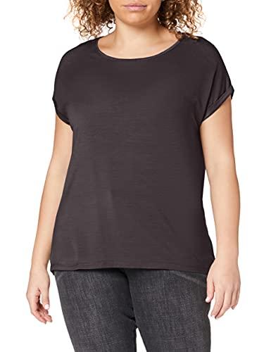 Vero Moda Vmava Plain SS Top Ga Noos Camiseta, Gris (Asphalt Asphalt), 42 (Talla del Fabricante: Large) para Mujer