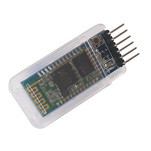 DSD TECH HC-05 Bluetooth Módulo de Paso en Serie Comunicación inalámbrica en Serie con botón para Arduino