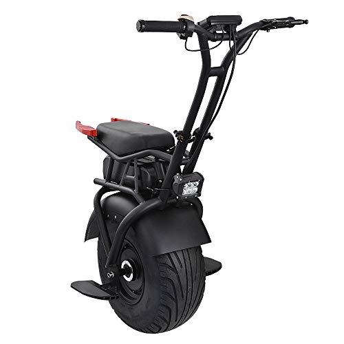 GJZhuan Erwachsene Elektro Einrad Ebike 1kW Elektroroller EIN Rad Motorrad-elektrisches Fahrrad Gelände Einrad 100kg Ladegewicht Schnellste Geschwindigkeit 20KM