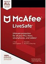 Descarga digital McAfee Protection 2020 - Suscripción de 12 meses para todos Windows 7/8/10 para clientes nuevos y existentes nada publicado, ignorar el envío MCAFEE LIVESAFE 10 DEVICES - VIA EMAIL