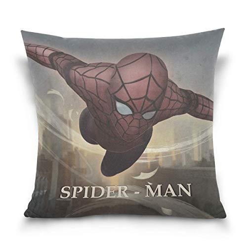 tour Spider-Man Cotton Velvet Soft Decorative Square Pillowcase Cushion Cushion Pillowcase Home Decoration Sofa Sofa Bed Chair Fundas para Almohada 20x20Inch(50cmx50cm)
