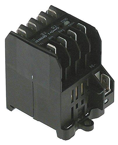 SIEMENS 3TG10-10-1A2L2 Leistungsschütz für Kaffeemühle 203V AC1 16A Hauptkontakte 4NO Anschluss Flachstecker 6,3mm 8,4A/4 kW