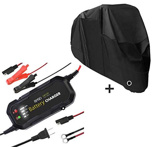 Set Cargador de batería + Funda Moto XXL Negro