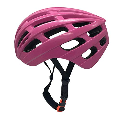 U/D Adult Men and Women Riding Helmet Bicycle Integrated Molding Lightweight Sports Equipment Protective Gear (Color : Pink)
