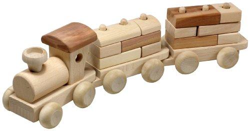 HOFMEISTER® Zug und 2 Waggons, mit Bauklötzen