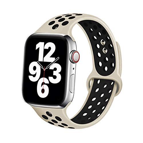 KAPU Correa para Apple Watch Band 40Mm 44Mm / 42Mm / 38Mm Accesorios Correa De Silicona Pulsera Deportiva para Iwatch Series 5 4 3 2 40 38 42 44 Mm