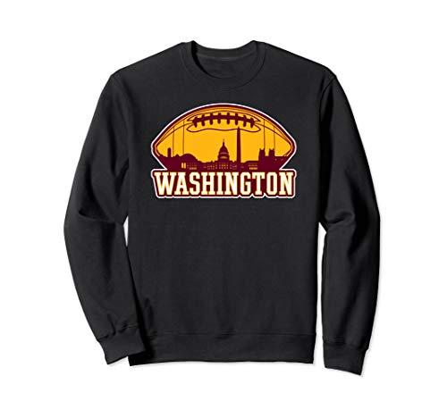 Vintage Washington Football DC Skyline Sports Team Novelty Sweatshirt